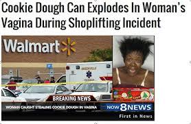 Shoplifting Meme - cookie dough