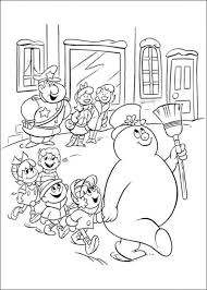 printable coloring pages frosty snowman picture 9 550x770