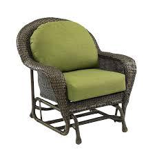 shop outdoor greatroom company balsam wicker patio glider with