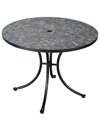 slate outdoor dining table amazon com home styles 5601 30 stone harbor slate tile top outdoor