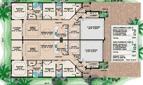 Multi Unit Floor Plans Multi Family House Plans With Courtyard Interesing Plans