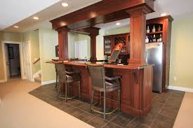 furniture appealing wet bar cabinets with armchairs and tile