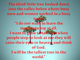 the story of three trees