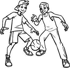 basketball players for kids coloring page wecoloringpage