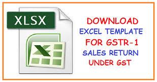 download excel template for gstr 1 sales return under gst simple