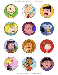 peanuts charlie brown inspired cupcake toppers or stickers