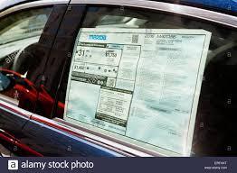 Mazda 6 Rating New 2016 Mazda 6 Monroney Sticker On Window Usa Stock Photo