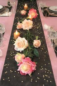 chemin de table mariage chemin de table mariage non tissé saumon pas cher