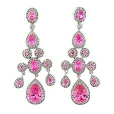 chandelier earrings true chandelier earrings with pink topaz czs drop