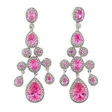 Pink Chandelier Earrings True Chandelier Earrings With Pink Topaz Czs Drop