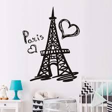 popular paris wall decals buy cheap paris wall decals lots from dctop paris eiffel tower wall decal vinyl stickers paris symbol home france design art murals bedroom