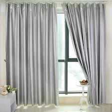 Silver Window Curtains Blackout Curtains For Living Room Bedroom Window Curtain Silver