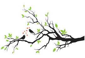birds on branch in wall decal easy decals