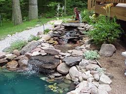 Backyard Fish Pond Ideas Garden Design Ideas Preserve Backyards Ideas Landscape An Backyard