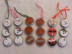 make recycled bottle cap ornaments ornament reindeer