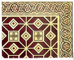 mosaic details ornaments بحث أثريات
