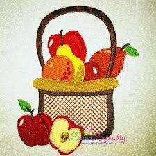 fruit baskets colorful fruit basket 1 machine embroidery design