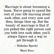 married quotes marriage is about becoming a team laughter