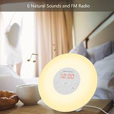 alarm clock that wakes you up in light sleep urxtral sunrise simulation wake up light digital led alarm clock