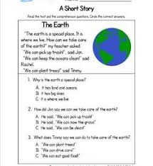 stories for comprehension kindergarten reading worksheets with comprehension questions