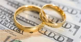 wedding ring costs study average cost of a wedding creditdonkey