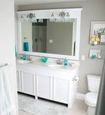 bathroom white framed mirrors home