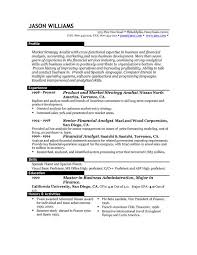 Financial Analyst Job Description Resume by Best Resume Examples Job Description