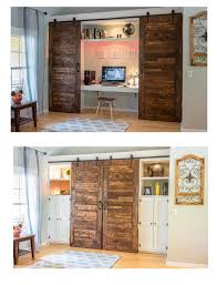Double Barn Doors by My Biggest Project Yet A Hidden Office With Custom Double Barn