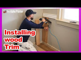 Where To Nail Chair Rail Installing Wood Trim How To Install Bead Board Wainscoting