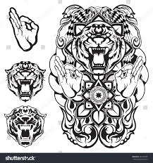 vector artwork tiger ornament illustration stock vector 264192788