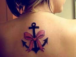 pink ribbon anchor tattoo designs for girls tattoo designs