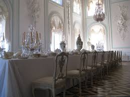 Grand Dining Room White Dining Room In The Grand Palace Peterhof Russia Travel Guides