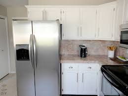 Painting Over Laminate Cabinets Rosa Beltran Design Diy Painted Tile Backsplash Throughout Can You