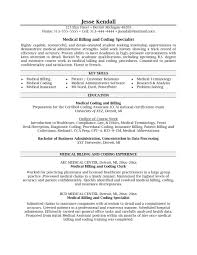 Sample Business Resume Template Medical Billing And Coding Resume Resume Cover Letter Template