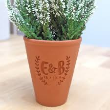 engraved terracotta pot the perfect gift for plant lovers