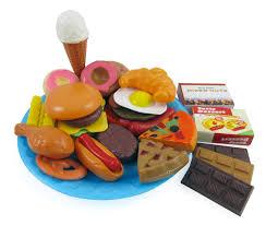 amazon com fast food u0026 dessert mini play food cooking set for