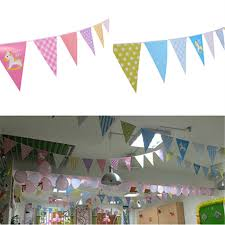 Bunting Flags Wedding My Little Pony Handmade Colorful Cotton Fabric Bunting Pennant