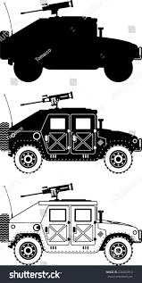 military hummer drawing war humvee military icons vector illustration stock vector