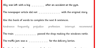 year 5 6 statutory spellings in sentences set 3 classroom secrets