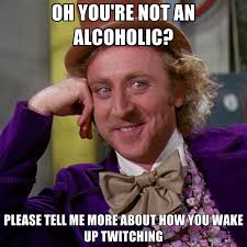 Tell Me More Memes - oh you re not an alcoholic please tell me more about how you wake