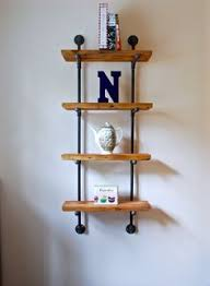 Black Pipe Shelving by Industrial Pipe Shelving Unit Wall Mounted The Black The O