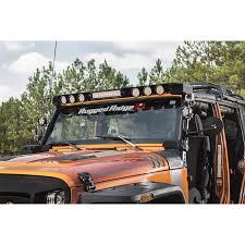 jeep light bar mount rugged ridge 11232 50 elite fasttrack windshield light bar 07 17