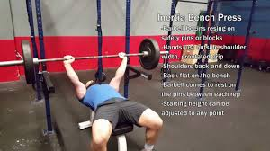 inertia bench press youtube