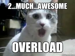 Omg Meme - 2 much awesome overload omg cat quickmeme