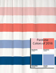 Curtain Colors Inspiration Shower Curtain Stripes In Pantone Colors Of 2016 Pantone Color