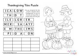 thanksgiving word scramble 1