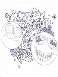coloriage dessins pour enfants emojis émoticônes