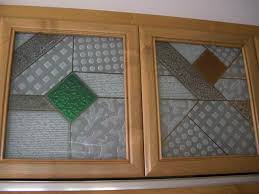 Kitchen Cabinet Inserts Geometric Designs Sans Soucie Art Glass
