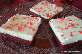 wheatless buns red velvet bars w cream cheese frosting gluten