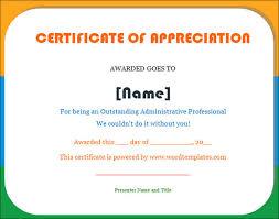 certificate of appreciation template 27 download in word pdf